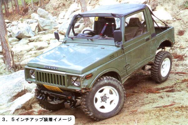ジムニーJA11 3.5インチアップ車両