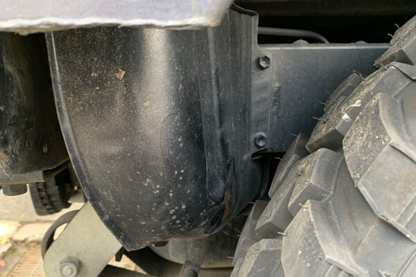 ジムニーJA11 大径タイヤ装着時の干渉ポイント