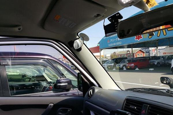 ジムニー 直前側方(直左)視界を確保するための車内ミラー