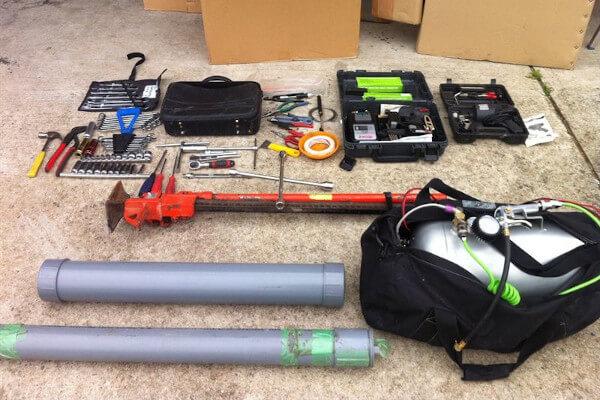 ジムニー・4WD 林道用の車載工具