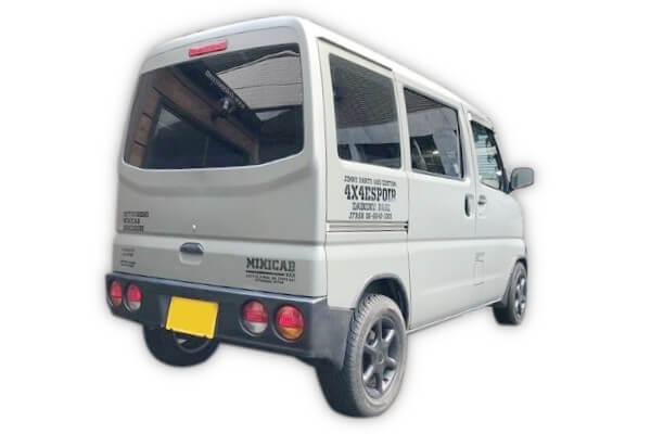 ミニキャブバン(U61V/62V)対応のリア専用25mmリフトアップコイルスペーサー 装着車両